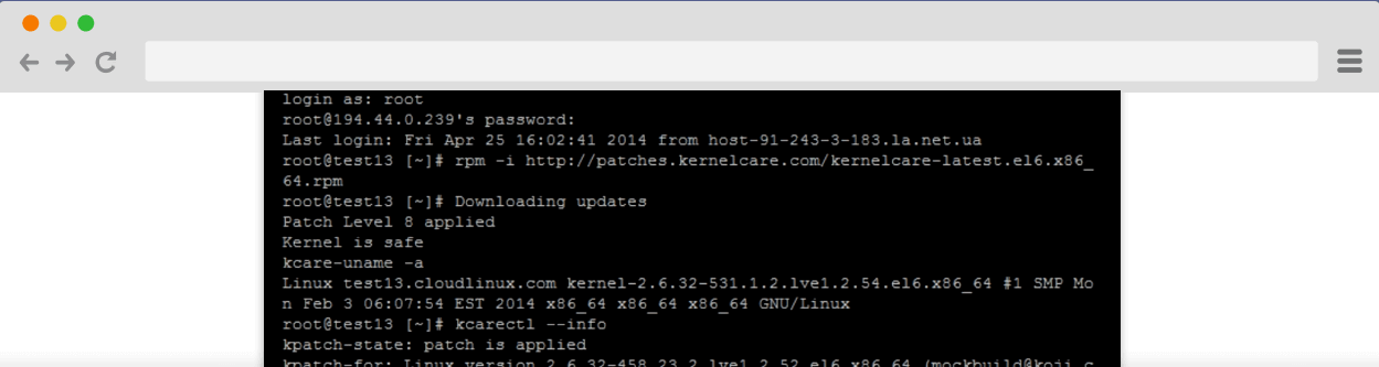 MozDomains KernelCare